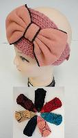 Hand Knitted Ear Band [Lg Bow]